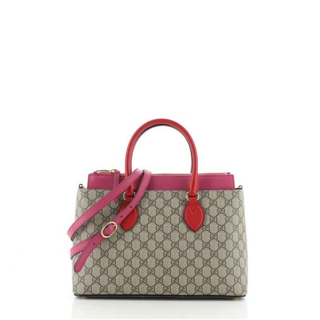 Item - Linea A Convertible Gg Coated Small Brown Canvas Tote