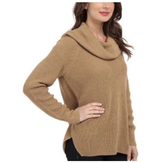 Item - L Chunky Cowl Neck Camel Tan Tunic Large Brown Sweater