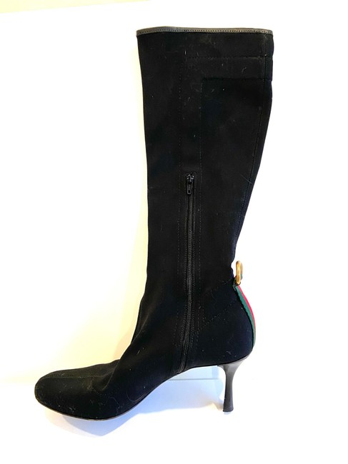 Item - Black Canvas Stretch Web D Ring Boots/Booties Size US 8 Regular (M, B)