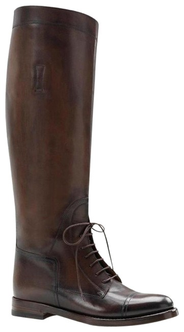 Item - Dark Brown Boulanger Equestrian Lace-up Cocoa It 34.5/ 4.5 297460 Boots/Booties Size EU 34.5 (Approx. US 4.5) Regular (M, B)