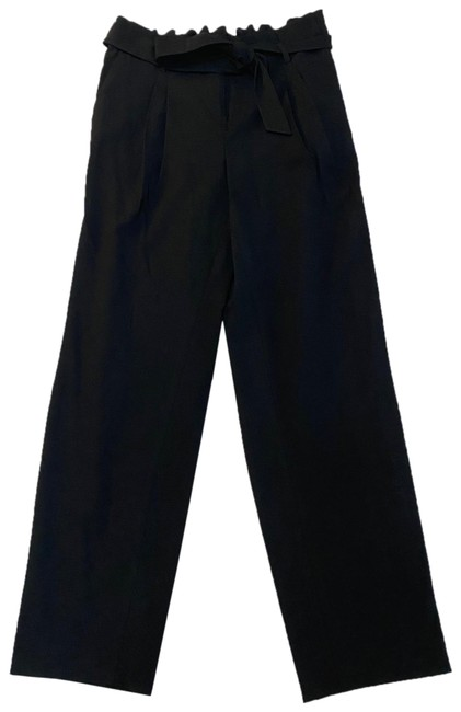 Item - Black Paper Bag Tie Waist Pants Size 10 (M, 31)