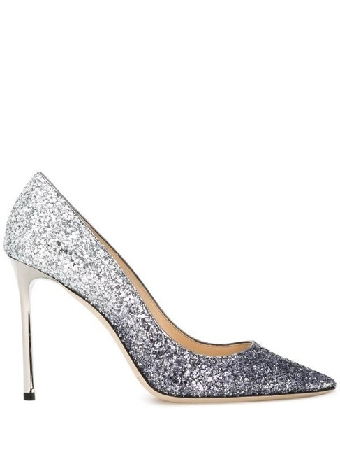 Item - Silver and Navy Romy 100 Pumps Size EU 39 (Approx. US 9) Regular (M, B)