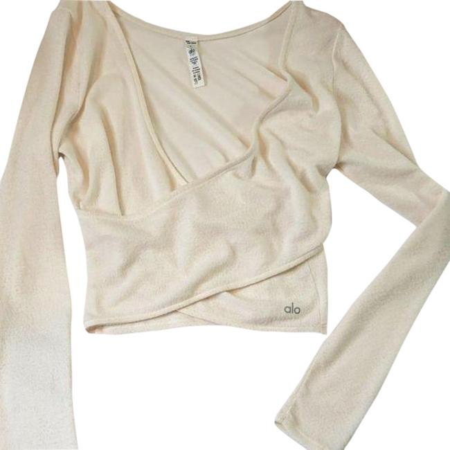 Item - Cream Yoga Activewear Top Size 12 (L)