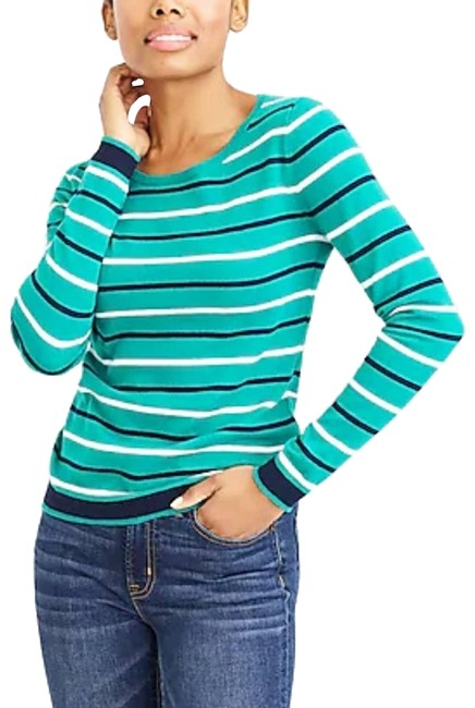 Item - XS Mercantile Women's Peyton Mixed-stripe Green Sweater