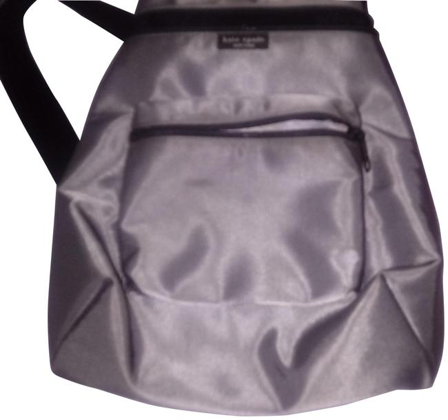 Item - Zippered Gray Polyester Backpack
