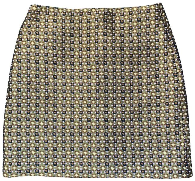 Item - Gold and Pink Metallic Mod Printed Skirt Size 4 (S, 27)