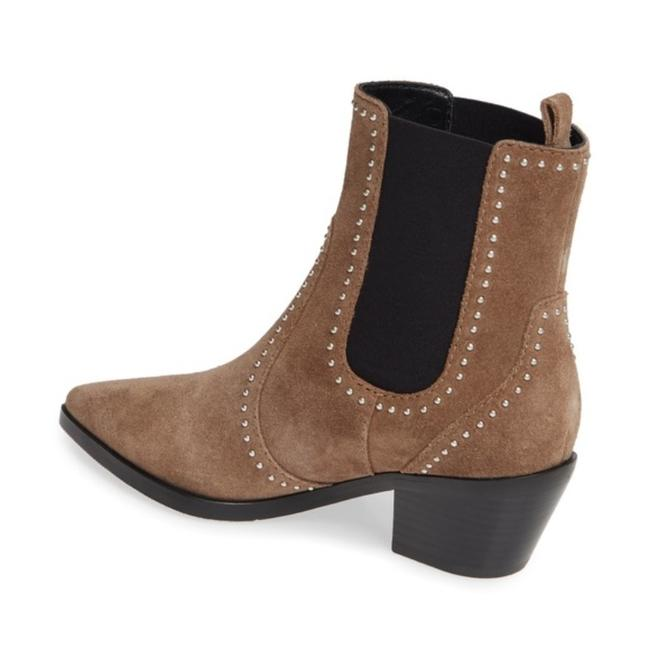 Item - Tan Silver Willa Studded Brown Suede Leather Chelsea Taupe Boots/Booties Size US 6.5 Regular (M, B)