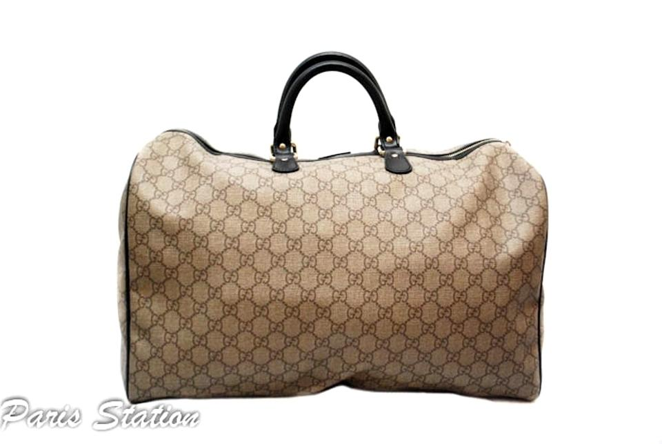 065e15b1c Gucci Duffle Limited Waterproof Gg Carry On Travel Brown Canvas ...