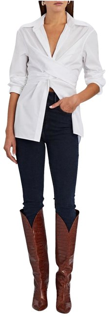 Item - Blue Dark Rinse Kendall The Super High In Don't Lose Me Skinny Jeans Size 26 (2, XS)