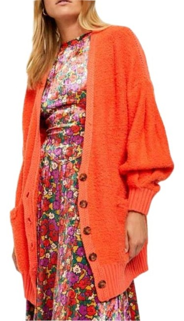 Item - Orange Oversized Cardigan Size 8 (M)