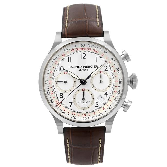 Item - Brown Capeland Steel White Arabic Dial Mens 10082 Watch