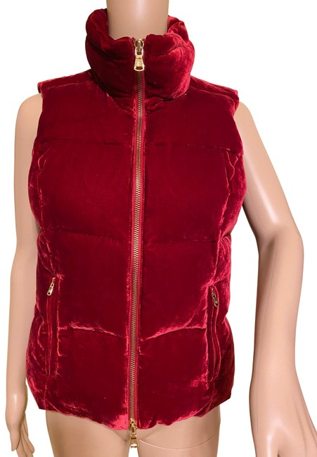 Item - Rich Down Vest Ruby Red Sweater