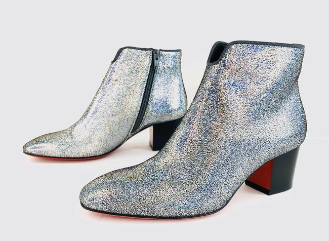 Christian Louboutin Silver Disco 70s Heel Colorful Glitter Leather Ankle Boots/Booties Size EU 35 (Approx. US 5) Regular (M, B) Christian Louboutin Silver Disco 70s Heel Colorful Glitter Leather Ankle Boots/Booties Size EU 35 (Approx. US 5) Regular (M, B) Image 12