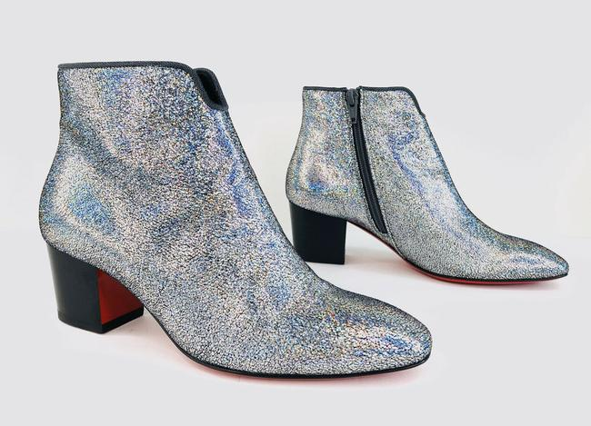 Christian Louboutin Silver Disco 70s Heel Colorful Glitter Leather Ankle Boots/Booties Size EU 35 (Approx. US 5) Regular (M, B) Christian Louboutin Silver Disco 70s Heel Colorful Glitter Leather Ankle Boots/Booties Size EU 35 (Approx. US 5) Regular (M, B) Image 3