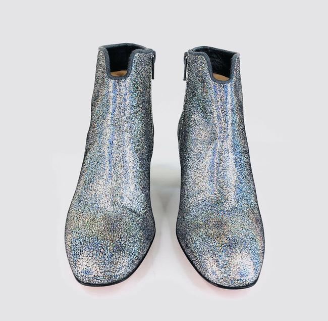 Christian Louboutin Silver Disco 70s Heel Colorful Glitter Leather Ankle Boots/Booties Size EU 35 (Approx. US 5) Regular (M, B) Christian Louboutin Silver Disco 70s Heel Colorful Glitter Leather Ankle Boots/Booties Size EU 35 (Approx. US 5) Regular (M, B) Image 4