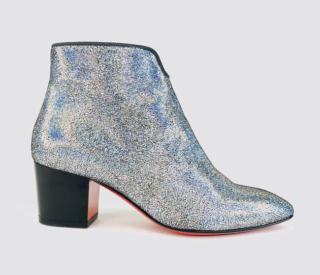 Christian Louboutin Silver Disco 70s Heel Colorful Glitter Leather Ankle Boots/Booties Size EU 35 (Approx. US 5) Regular (M, B) Christian Louboutin Silver Disco 70s Heel Colorful Glitter Leather Ankle Boots/Booties Size EU 35 (Approx. US 5) Regular (M, B) Image 6