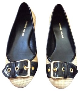 Antonio Melani Wicker/black Flats