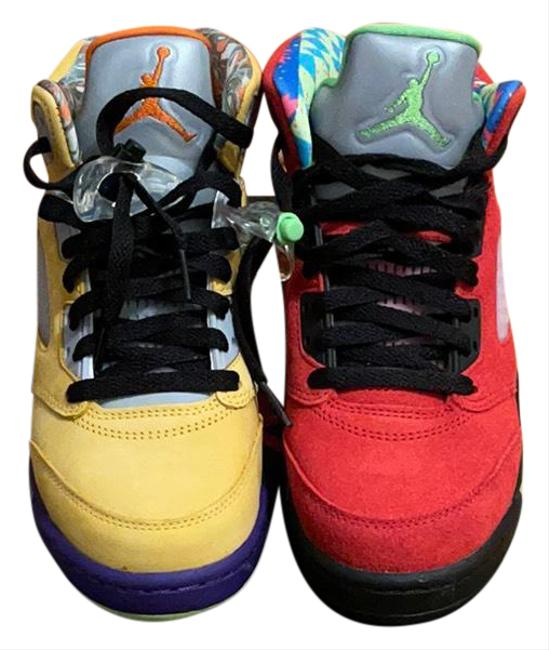 Item - Red Yellow 5 Retro Se 'what The' Sneakers Size US 7 Regular (M, B)