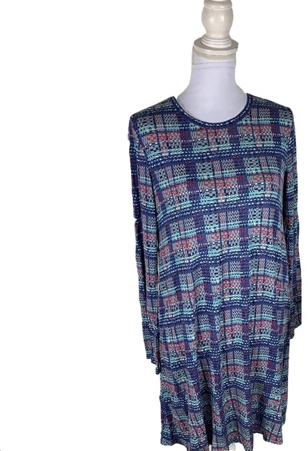 Item - Blue Long Sleeve Small Short Casual Dress Size 6 (S)