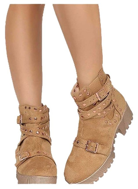 Item - Tan Suede Lug Sole Boots/Booties Size US 8 Regular (M, B)