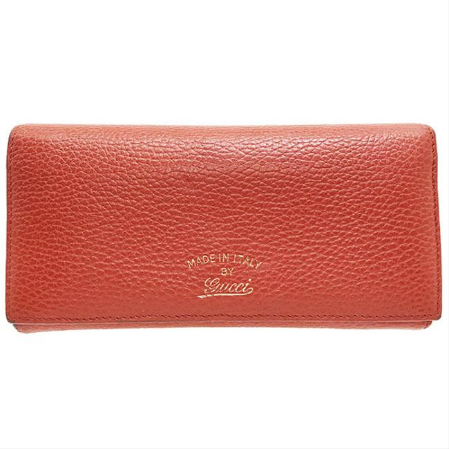 Item - Red Color Swing Continental Leather 354498 Bi-fold Wallet