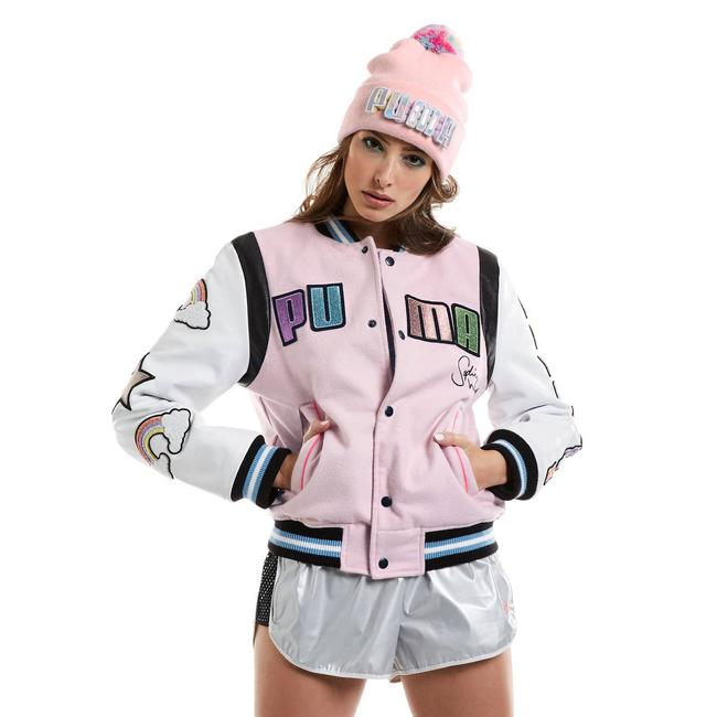 Item - Pink Rare X Sophia Webster Leather Varsity Bomber Dreamette S Jacket Size 4 (S)