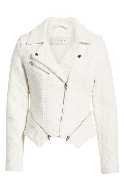 Item - White Tweed Moto Utility Jacket Size 2 (XS)