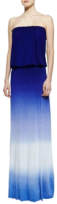 Item - Blue Ombre Strapless Long Casual Maxi Dress Size 8 (M)
