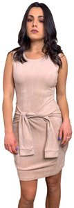 Missguided Suede Tie Sleeveless Dress