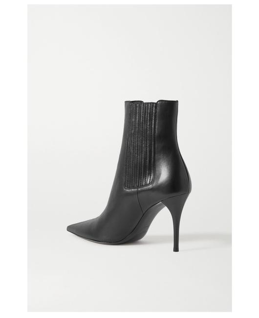 Item - Black Lexi Leather Ankle Boots/Booties Size EU 40 (Approx. US 10) Regular (M, B)