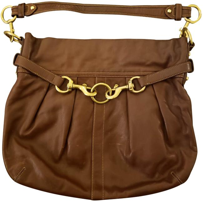 Item - Hampton Belted #g06s-f10205 Brown Leather Hobo Bag