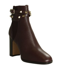 Item - Burgundy Rockstud Wrap Leather Ankle (194312) Boots/Booties