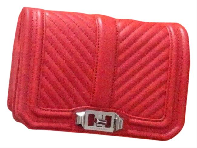 Item - Chevron Red Leather Cross Body Bag
