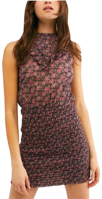 Free People Pink Favorite I'm Your Short Cocktail Dress Size 8 (M) Free People Pink Favorite I'm Your Short Cocktail Dress Size 8 (M) Image 1