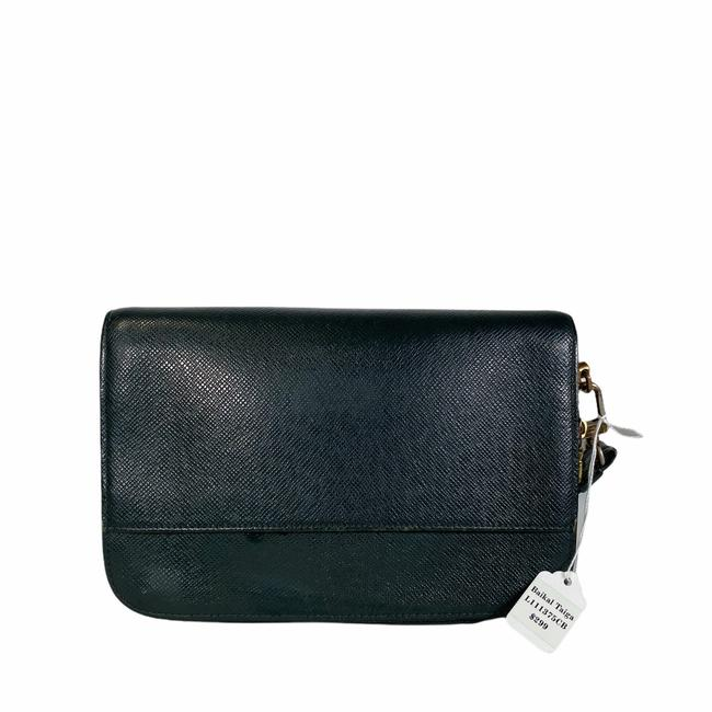 Item - Green Leather Clutch