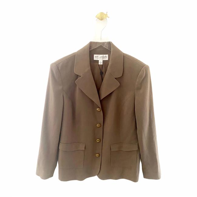 Item - Brown Button Down Blazer Size 8 (M)