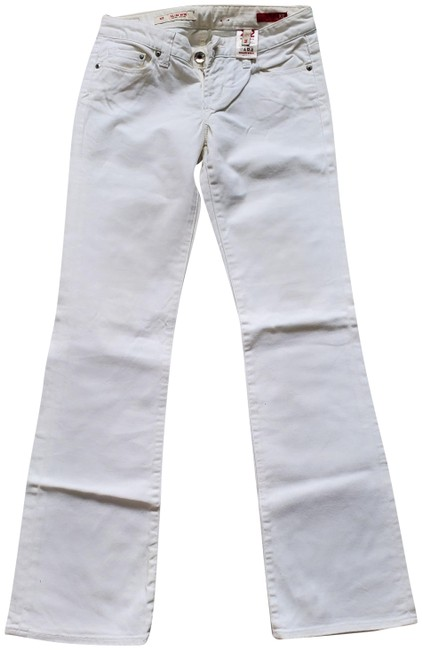 Item - White Light Wash Low Rise Boot Cut Jeans Size 26 (2, XS)