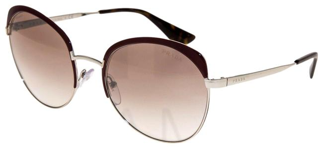 Item - Silver Burgundy Cinema Brow Oval Pr54ss Amaranth Mirrored Metal 54s Sunglasses