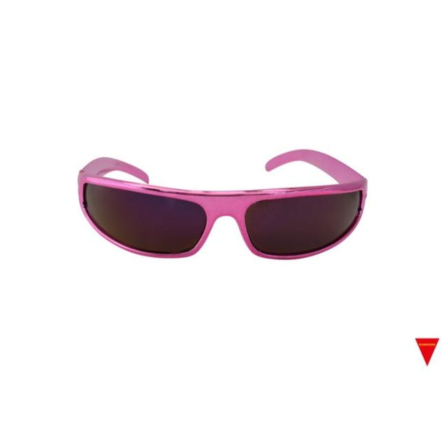 Item - Pink Wrap Around Hot 70's Frame Sunglasses