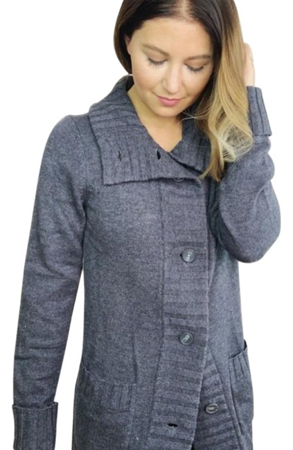 Item - Gray Lambswool Button Cardigan Size 6 (S)