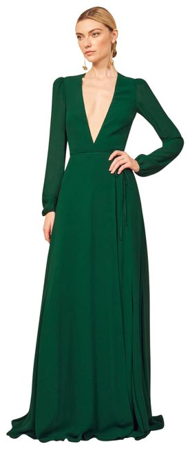 Item - Green Milan In Emerald Sleeve Wrap Gown Long Formal Dress Size 12 (L)