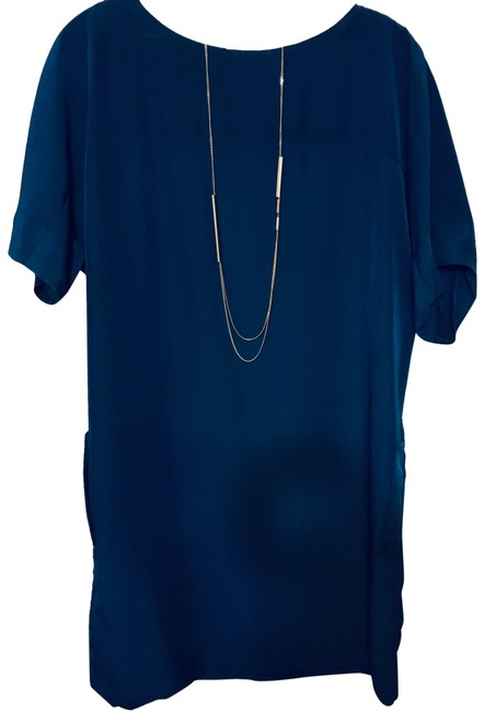 Item - Blue Shift with Pockets Short Work/Office Dress Size 10 (M)