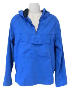 Roxy Activewear Active Quicksilver Royal Hoodie Windbreaker Spring Summer Campus College Backpack Folds Into Pouch Pouch 8 Blue Jacket