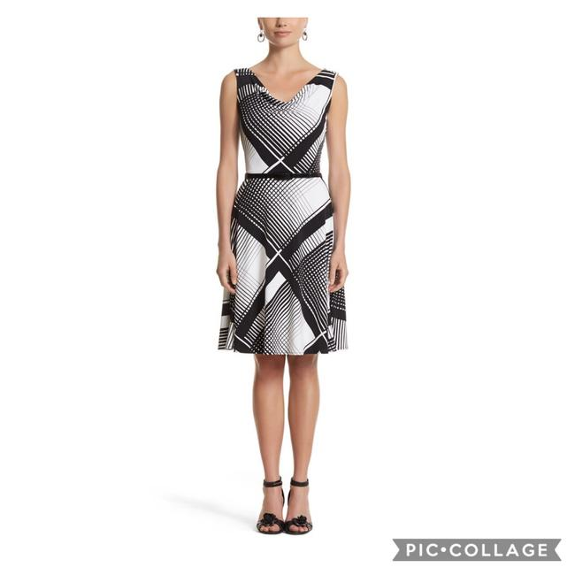Item - and Sleeveless Cowl Neck Fit Flare Mid-length Work/Office Dress Size 6 (S)