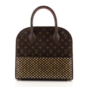 Item - Shopping Bag Christian Louboutin and Monogram Brown Red Calf Hair Canvas (Coated) Tote