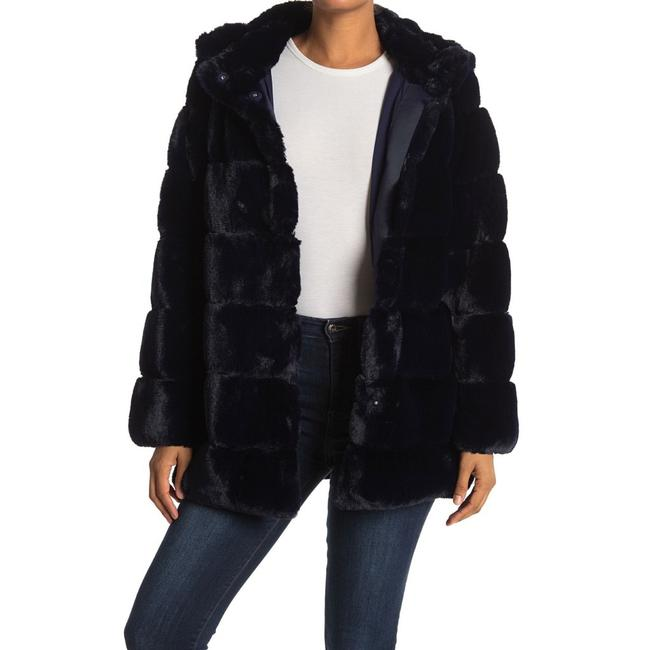 Item - Sapphire Navy Blue Felicia Faux Hooded Coat Size 8 (M)