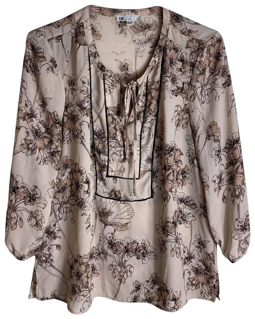 Item - Pink Floral Peasant Womens Small Blouse Size 4 (S)