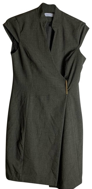 Item - Brown Wrap Womens Cocktail Dress Size 6 (S)