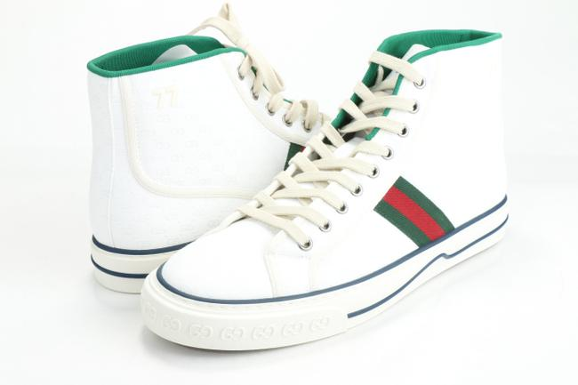 Gucci White Tennis 1977 High Top Sneakers Shoes Gucci White Tennis 1977 High Top Sneakers Shoes Image 1