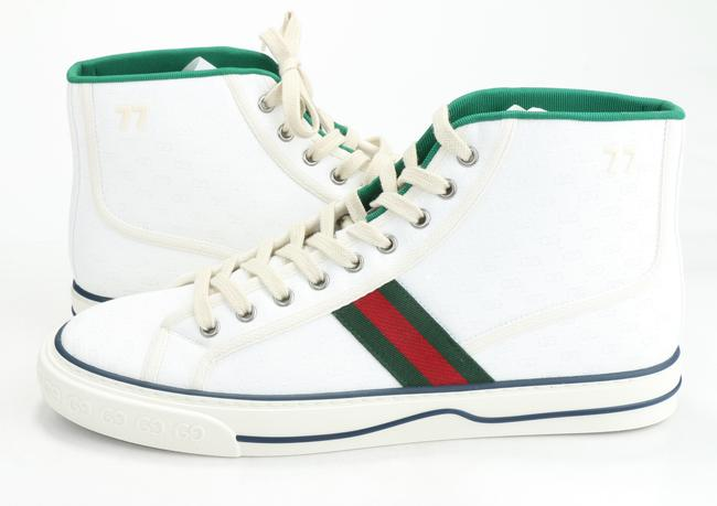 Gucci White Tennis 1977 High Top Sneakers Shoes Gucci White Tennis 1977 High Top Sneakers Shoes Image 2